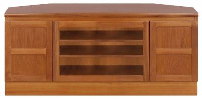 Nathan Classic Teak Corner TV Cabinet