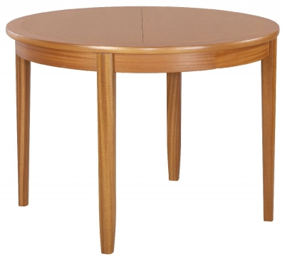 Nathan Classic Teak Round Extending Dining Table