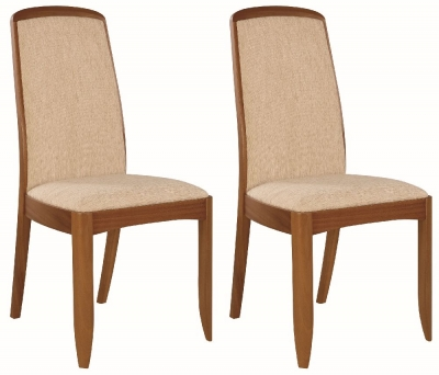 Nathan Classic Teak Upholstered Dining Chair (Pair)