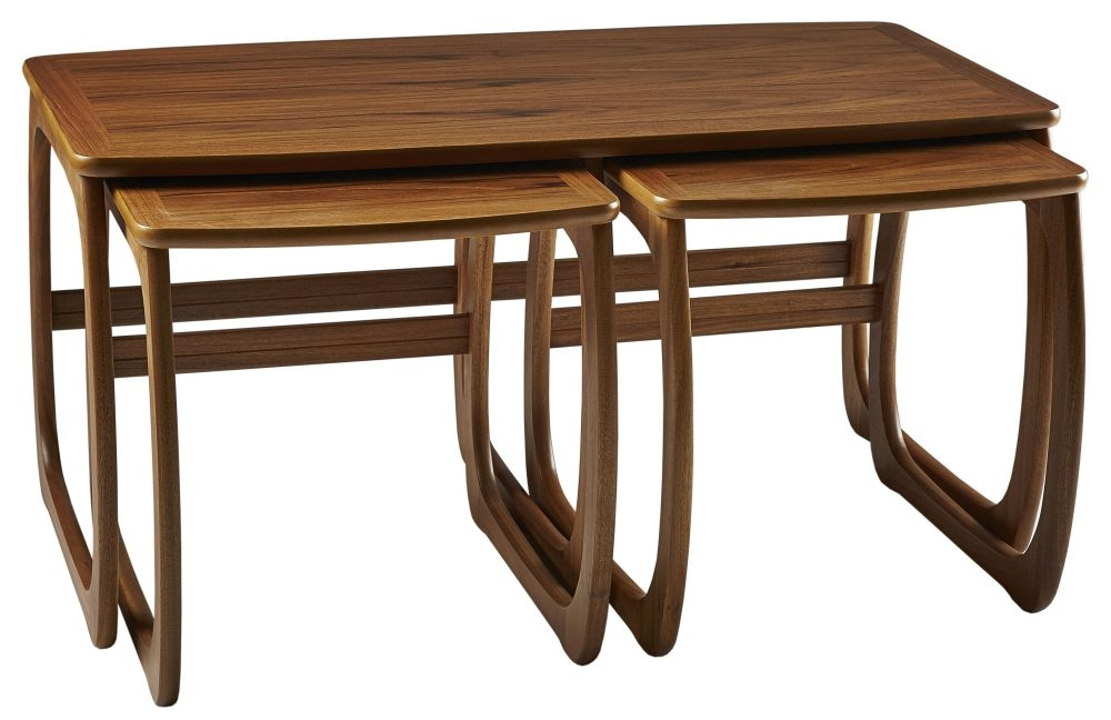 Nathan Classic Teak Burlington Nest of Coffee Table