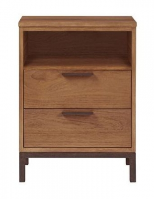 Nathan Palma Industrial 2 Drawer Night Stand