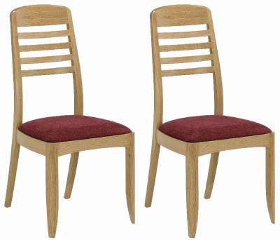 Nathan Shades Oak Ladder Back Dining Chair (Pair)