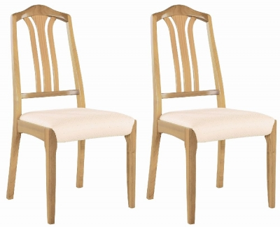 Nathan Shades Oak Slatted Back Dining Chair (Pair)