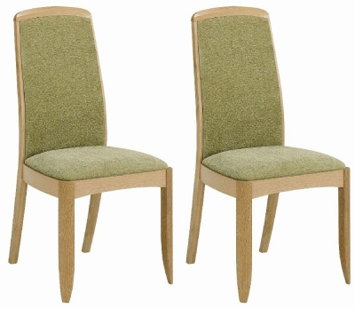 Nathan Shades Oak Upholstered Dining Chair (Pair)
