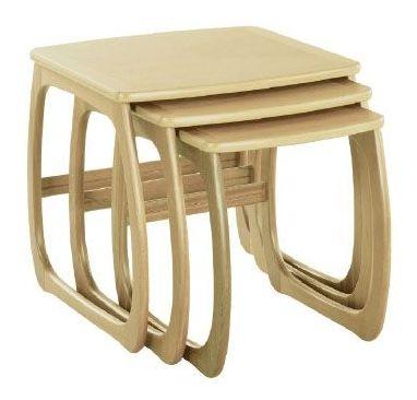 Nathan Shades Oak Burlington Nest of 3 Tables