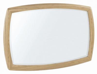 Nathan Shades Oak Curved Wall Mirror - 105cm x 65cm