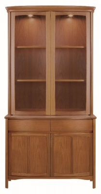 Nathan Shades Teak Curved Display Unit