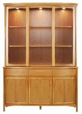 Nathan Shades Teak Curved Large Display Unit