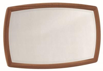 Nathan Shades Teak Curved Wall Mirror - 105cm x 65cm