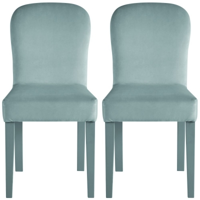 Nathan Tiverton Painted Upholstered Dining Chair (Pair)