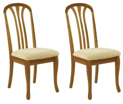 Nathan Trafalgar Arran Slatted Back Dining Chair (Pair)