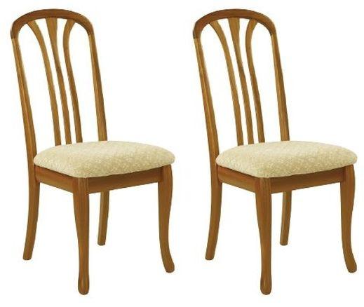 Nathan Trafalgar Arran Slatted Back Dining Chair (Pair)