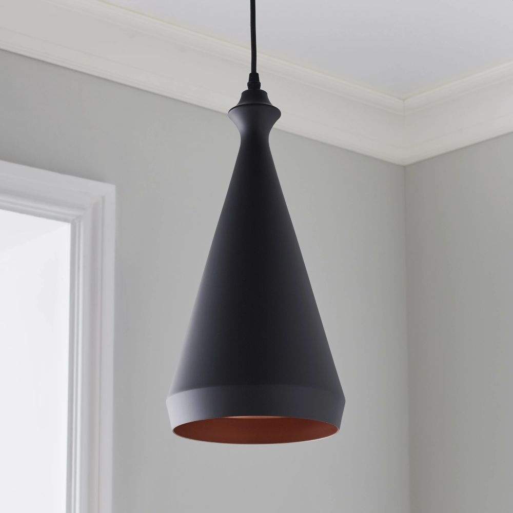 Black Cone Pendant Light