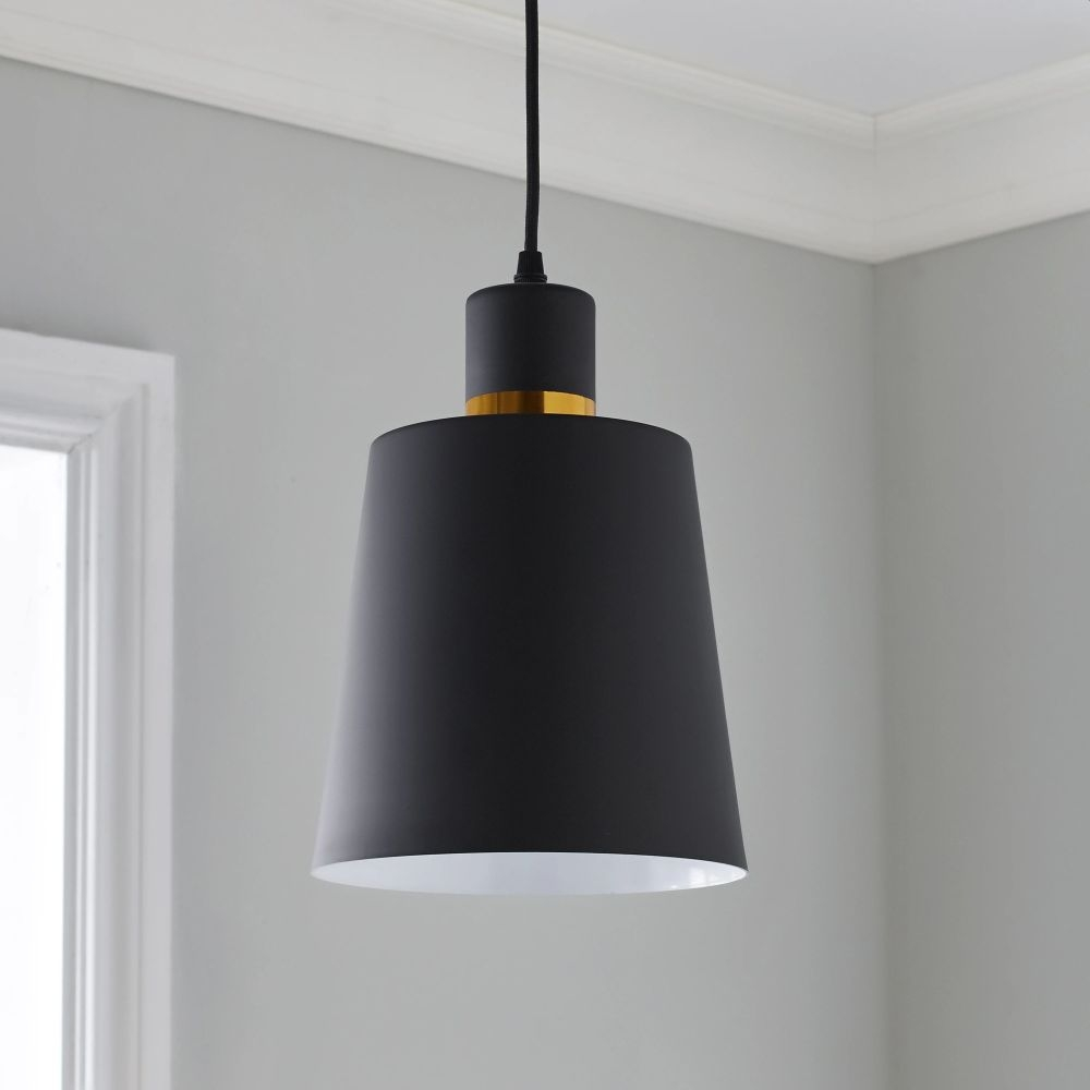 Black and Gold Pendant Light