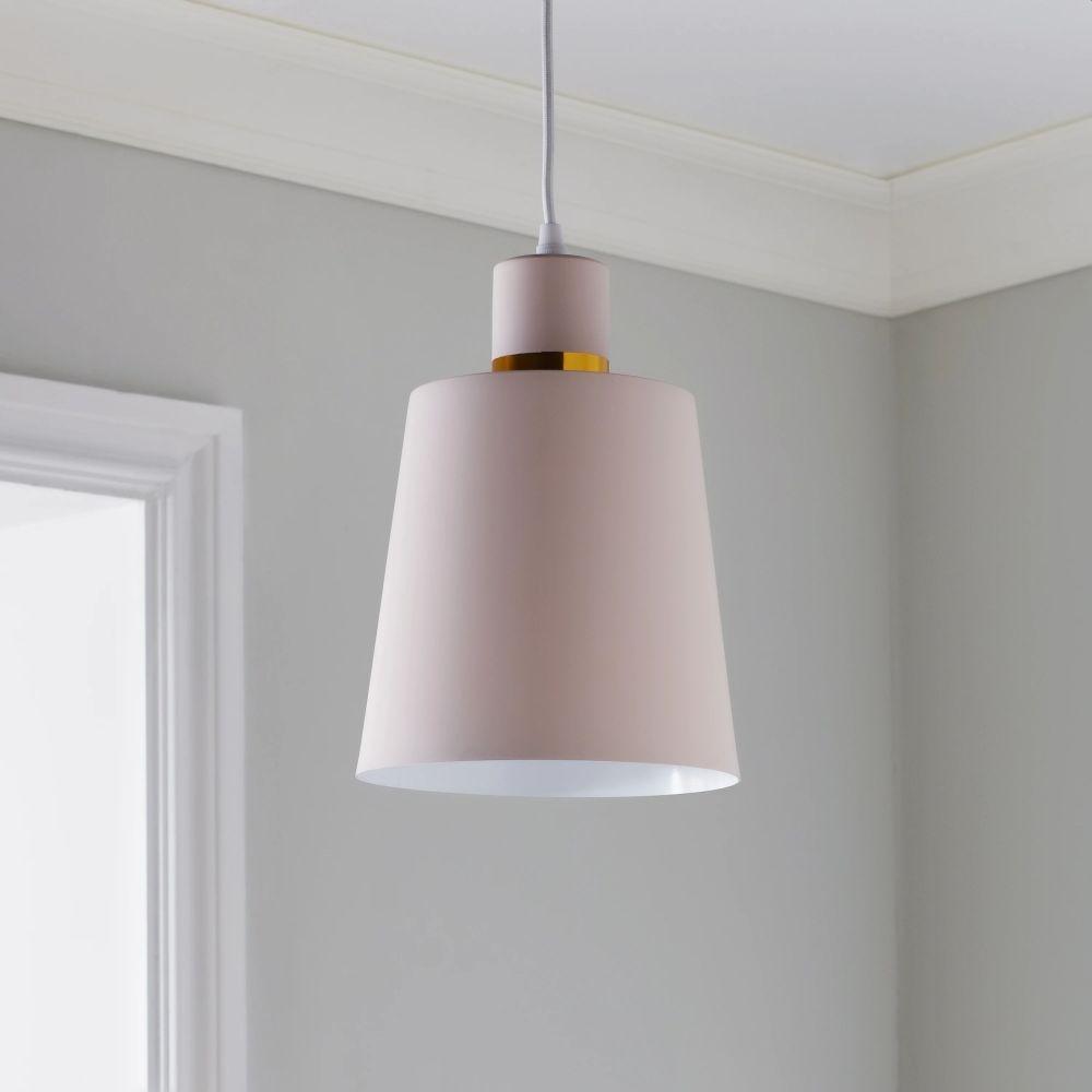 Pastel Pink Pendant Light
