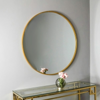 Manhattan Gold Round Wall Mirror - 80cm x 80cm