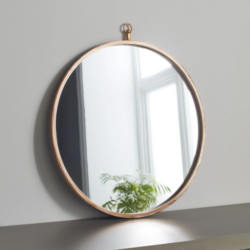 Pink Copper Round Wall Mirror - 50cm x 50cm
