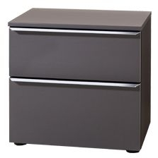 Nolte Akaro Graphite 2 Drawer Bedside Chest - W 50cm