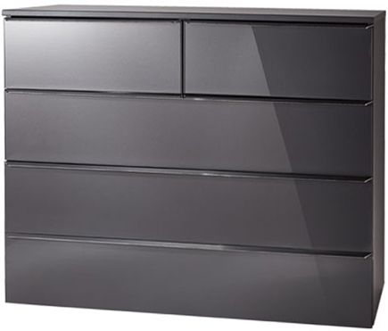 Nolte Akaro Graphite 5 Drawer Chest - W 100cm