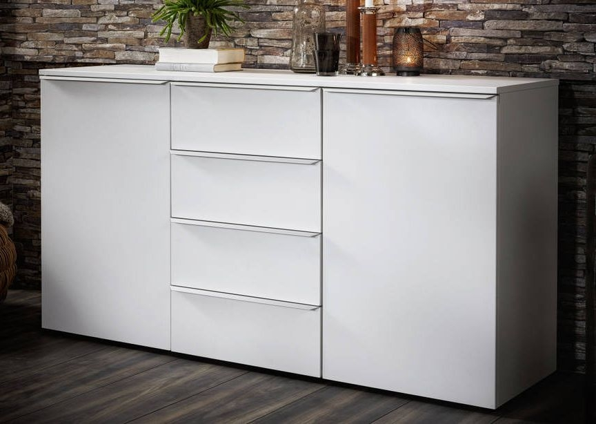 Nolte Akaro Polar White 2 Door 4 Drawer Chest - W 150cm