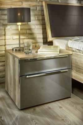 Nolte Alegro Style Matt Glass Bedside Cabinet