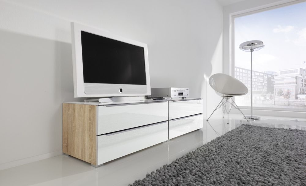 buy nolte alegro style bedside cabinet with frosted white. Black Bedroom Furniture Sets. Home Design Ideas