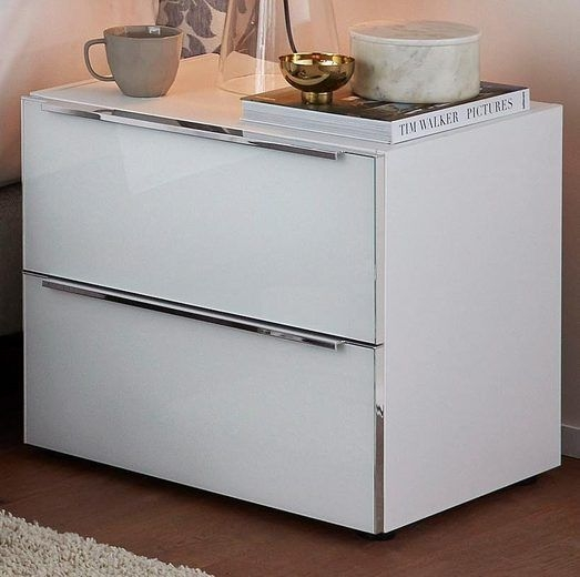 Nolte Alegro Style Glass Bedside Cabinet