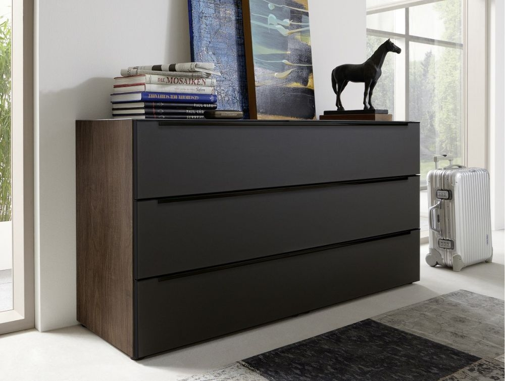 buy nolte alegro style matt glass chest of drawer online cfs uk. Black Bedroom Furniture Sets. Home Design Ideas