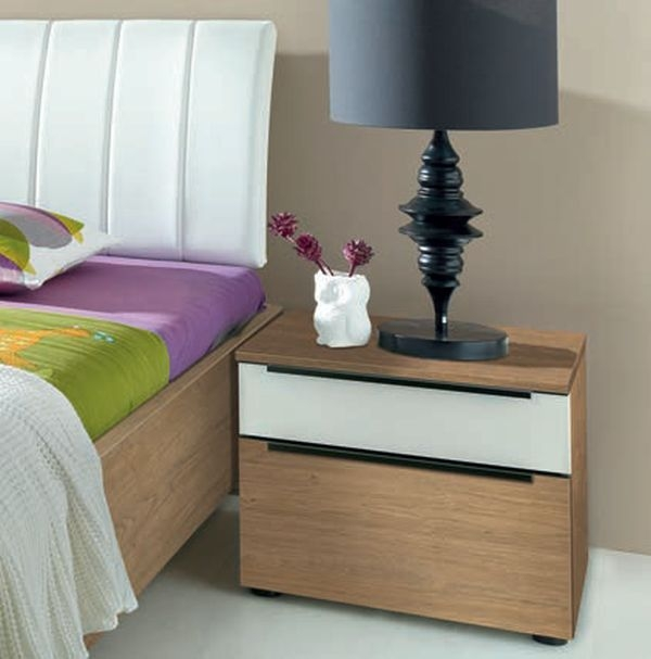 Nolte Alegro Trend Bedside Cabinet with High Gloss Top Drawer
