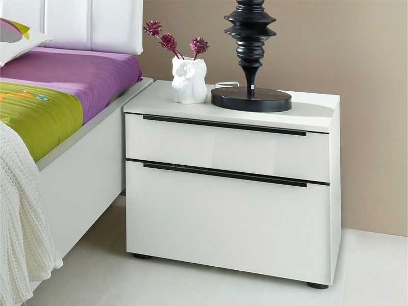 Nolte Alegro Trend Bedside Cabinet with Wooden Front