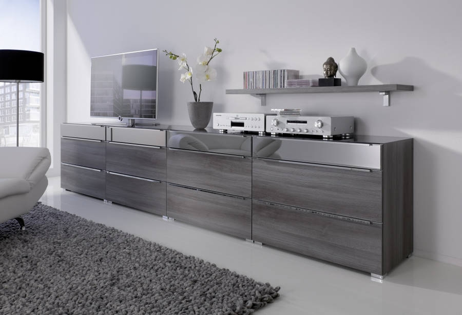 Nolte Alegro Trend Chest of Drawer with High Gloss Top Drawer