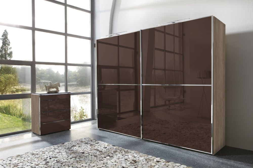 Nolte Attraction Glass Hinged Wardrobe with One Horizontal Door Trim