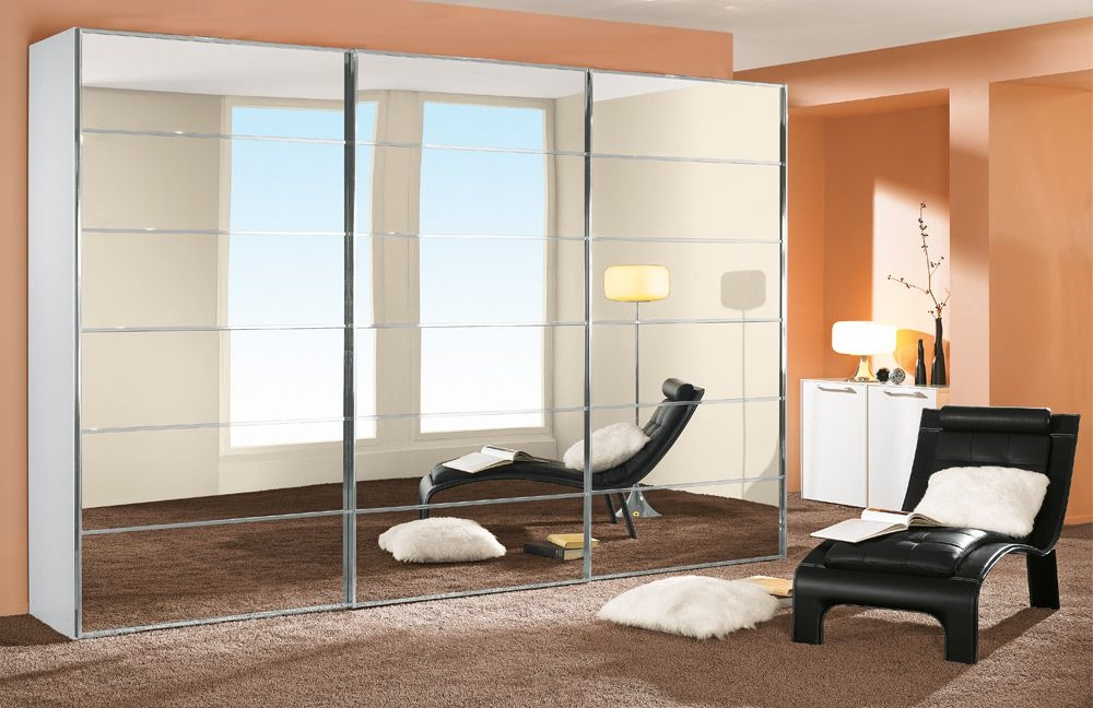 Buy Nolte Attraction Glass Sliding Wardrobe With Five