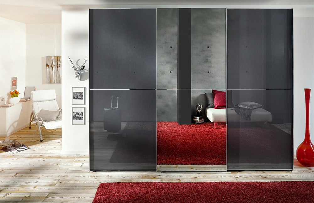 Nolte Attraction Plain and Glass Doors Left and Right Sliding Wardrobe