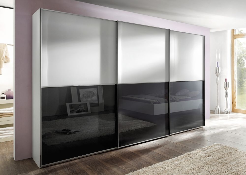 Nolte Attraction Plain and Glass Doors Top and Bottom Sliding Wardrobe