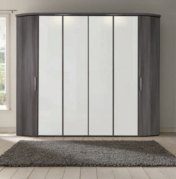 Nolte Attraction Version 1 Hinged Wardrobe with Wooden Front