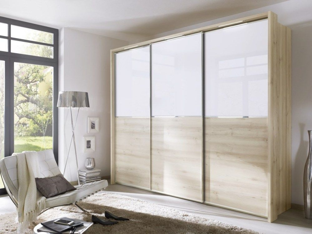 Nolte Attraction Version 1B Sliding Wardrobe with Wooden Front