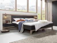 Nolte Cepina Basalt with Picea Pine and Fabric Amaro Anthracite Bed Frame 1 - W 180cm