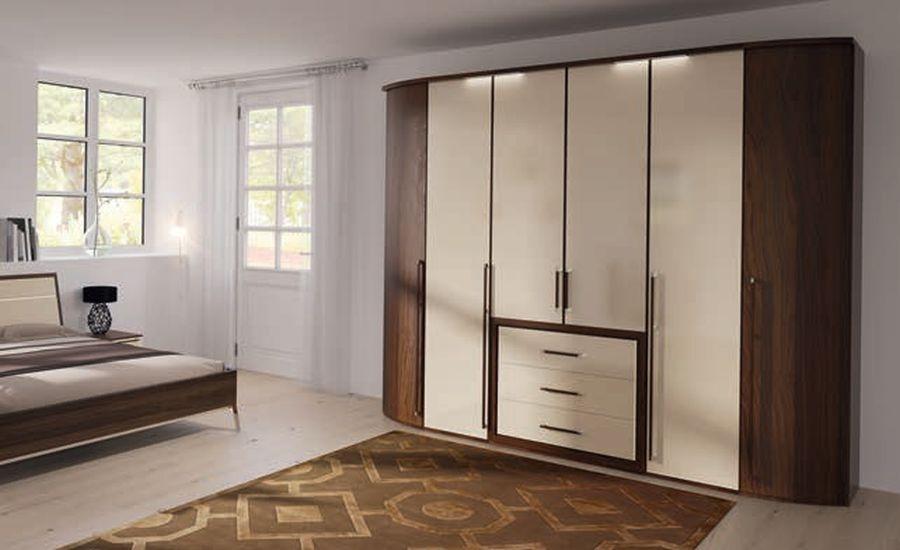 Nolte Columbus Double Door Hinged Wardrobe with Wooden Front