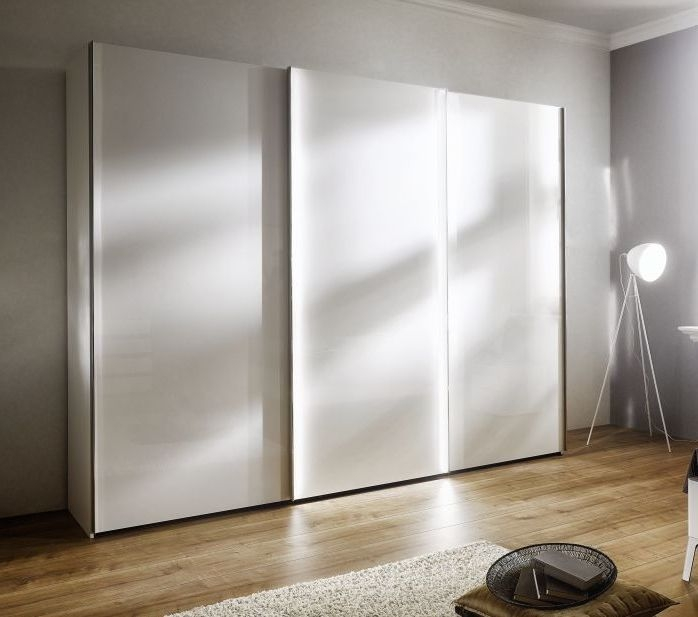 Nolte Columbus Polar White 3 Door Sliding Wardrobe - W 240cm
