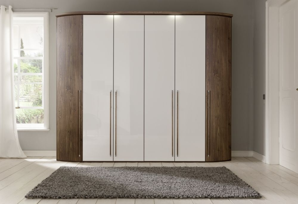 Nolte Columbus Single Door Hinged Wardrobe with Wooden Front
