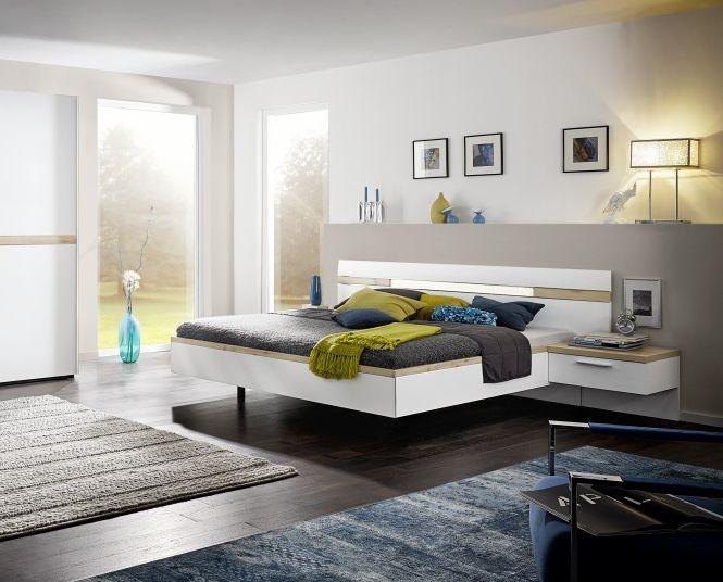 Nolte Deseo Polar White With Imitation Icona Beech Bed Frame 2A - W 180cm