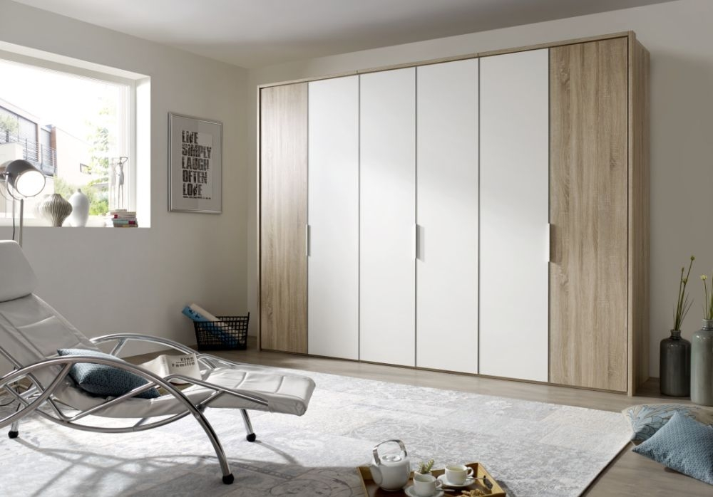 buy nolte horizont 10500 hinged door wardrobe with wooden front online cfs uk. Black Bedroom Furniture Sets. Home Design Ideas
