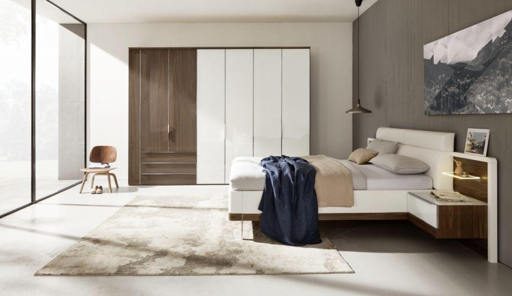 Nolte Horizont 10500 Hinged Double Door Wardrobe with Wooden Front