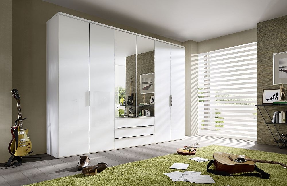 Nolte Horizont 10500 Panaroma Folding Door Wardrobe with Wooden Front