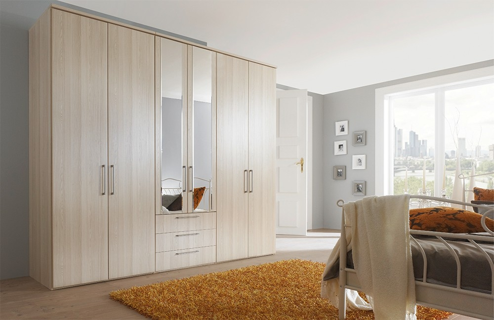 Nolte Horizont 4500 Plain Door with Bevelled Edge Mirror Hinged Wardrobe