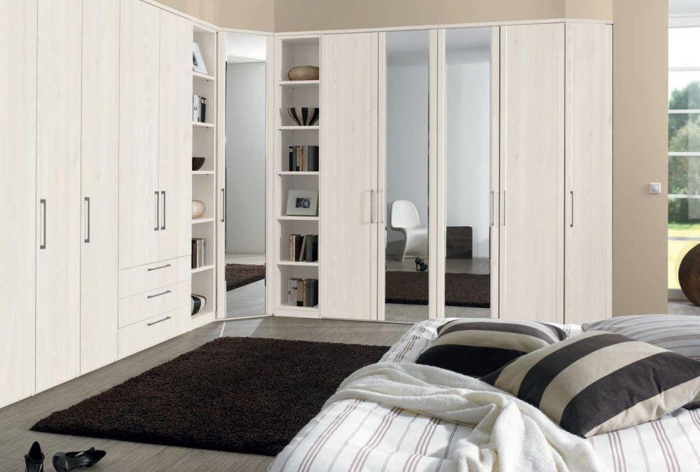 Nolte Horizont 4500 Profile Door with Bevelled Edge Mirror Hinged Wardrobe