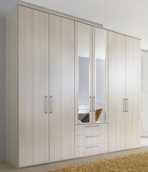 Nolte Horizont 4500 Imitation Sibiu Larch Plain 6 Door 3 Drawer Hinged Wardrobe - W 300cm x H 200cm
