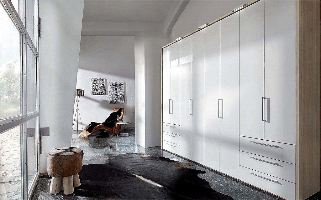 Nolte Horizont 7000 Folding Plain and High Gloss Door Hinged Wardrobe
