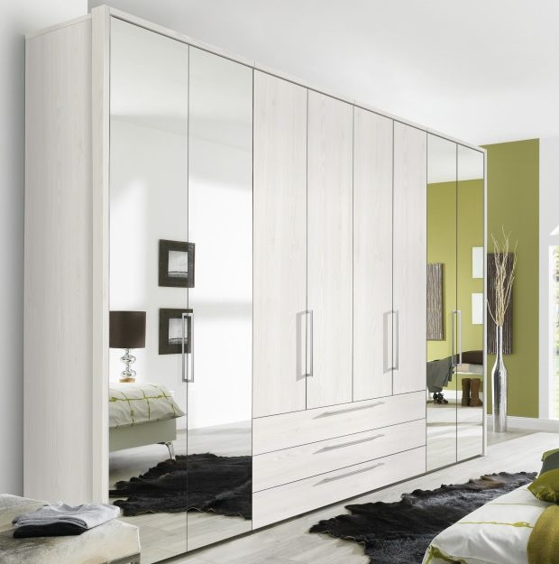 Nolte Horizont 7000 Imitation Sibiu Larch 8 Door 3 Drawer Folding Wardrobe - W 280cm x H 225cm